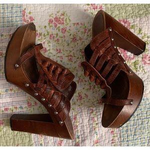 Dior Wooden Heels